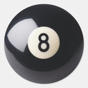Pegatina Redonda Pegatinas del billar 8-Ball de los billares 0a974d36aed1b