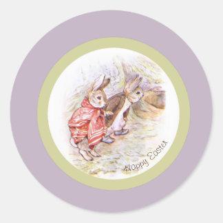 Pegatina Redonda Pegatinas del conejo de Beatrix Potter