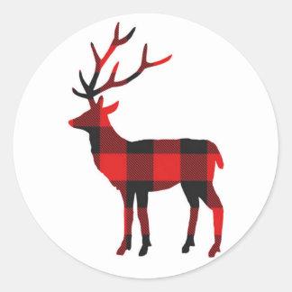 Pegatina Redonda Pegatinas del día de fiesta de los ciervos el | de