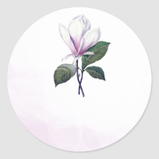 Pegatina Redonda Pegatinas del favor del boda de la magnolia