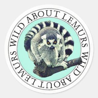 Pegatina Redonda Pegatinas del Lemur