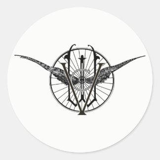 Pegatina Redonda Pegatinas del logotipo del club de la rueda de