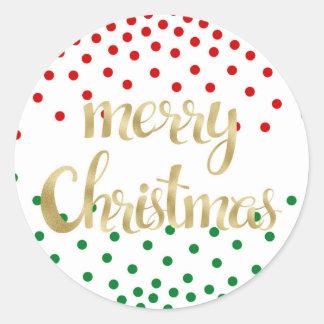 Pegatina Redonda Pegatinas del navidad