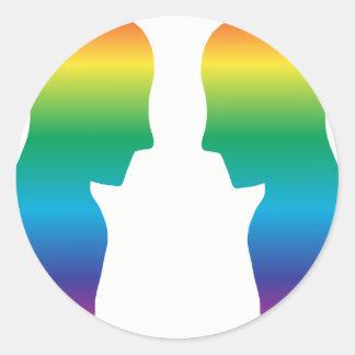 Pegatina Redonda Pegatinas del orgullo MLM de LGBT