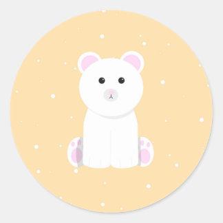 Pegatina Redonda Pegatinas del oso polar