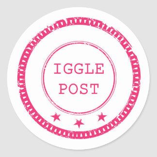 Pegatina Redonda Pegatinas del poste de Iggle