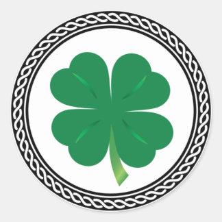 Pegatina Redonda Pegatinas del trébol del día de St Patrick del