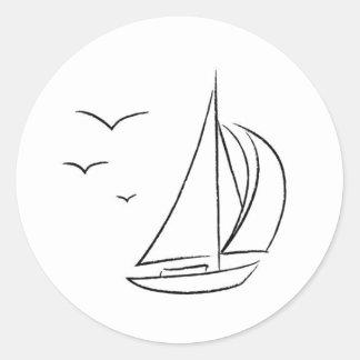 Pegatina Redonda Pegatinas del velero