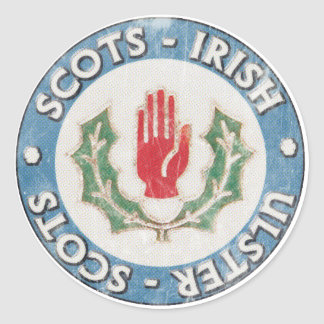 Pegatina Redonda Pegatinas Escocés-Irlandeses/Ulster-Escoceses