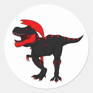 Pegatina Redonda Pegatinas fundidos de Rex del Tyrannosaurus