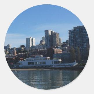 Pegatina Redonda Pegatinas marítimos del museo de San Francisco