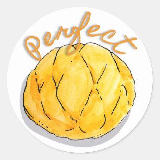 Pegatina Redonda Pegatinas perfectos del melón del pan japonés de