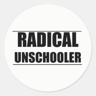 Pegatina Redonda Pegatinas radicales de Unschooler