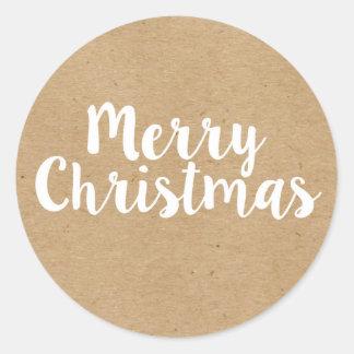 Pegatina Redonda Pegatinas redondos de las Felices Navidad el |