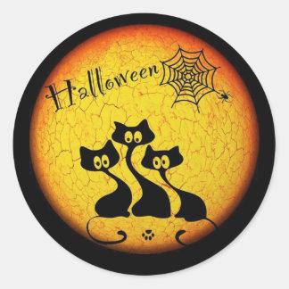 Pegatina Redonda Permanezca juntos a los pegatinas de Halloween