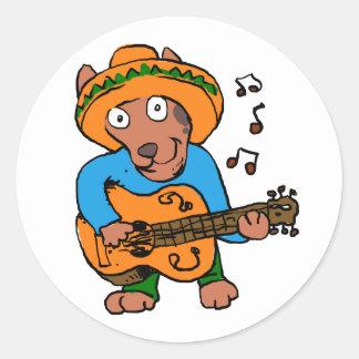 Pegatina Redonda Perro mexicano
