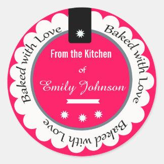 Pegatina Redonda Personalizado cocido con las etiquetas de la