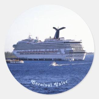 Pegatina Redonda Personalizado de la visita del barco de cruceros