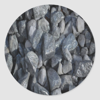 Pegatina Redonda Piedras Gris-Grises por Khoncepts