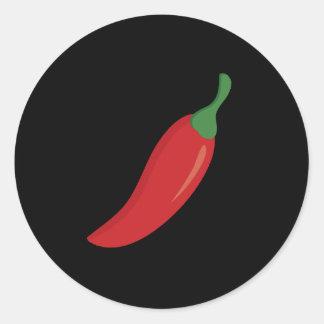Pegatina Redonda Pimienta de chile rojo