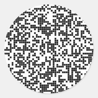 Pegatina Redonda pixel