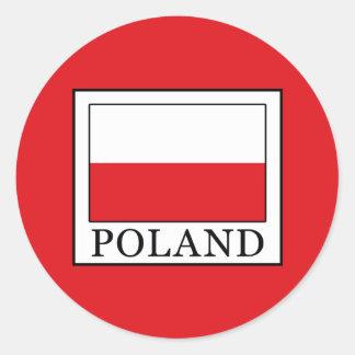 Pegatina Redonda Polonia