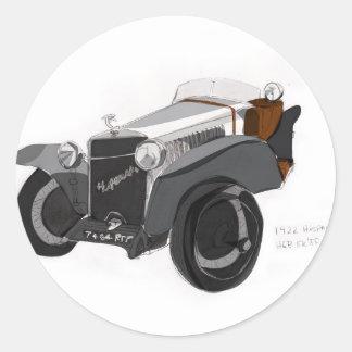 Pegatina Redonda Primer de Hispano Suiza