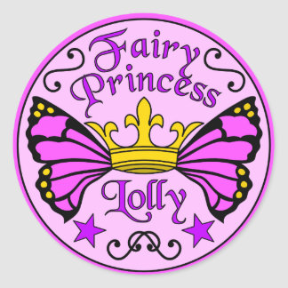 Pegatina Redonda Princesa de hadas Lolly Stickers