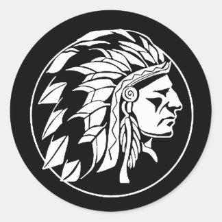 Pegatina Redonda Principales NAHM pegatinas del nativo americano