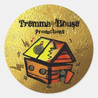 Pegatina Redonda Producciones de la casa de Tremma