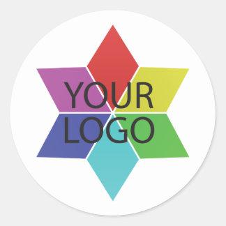 Pegatina Redonda promoción de la empresa de negocios del símbolo