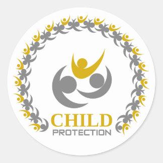 Pegatina Redonda protección del niño