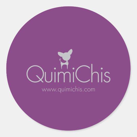 Pegatina Redonda Quimichis logo