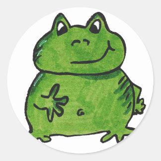 Pegatina Redonda Rana Frog