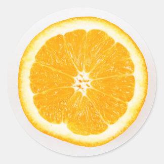Pegatina Redonda Rebanada anaranjada