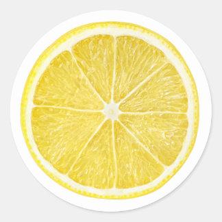 Pegatina Redonda Rebanada de limón