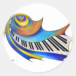 Pegatina Redonda Redemessia - piano espiral