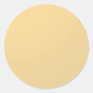 Pegatina Redonda REDONDO - imagen del texto de la sombra del color