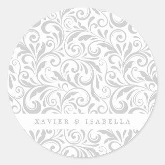Pegatina Redonda Remolinos elegantes