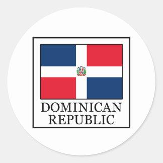 Pegatina Redonda República Dominicana
