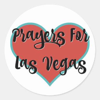 Pegatina Redonda Rezos para los pegatinas del tributo de Las Vegas