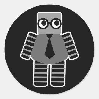 Pegatina Redonda Robot elegante