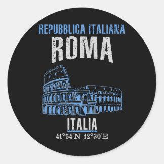 Pegatina Redonda Roma