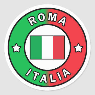 Pegatina Redonda Roma Italia