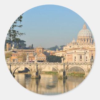Pegatina Redonda Roma, Italia