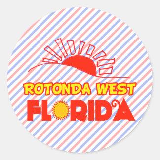 Pegatina Redonda Rotonda del oeste, la Florida