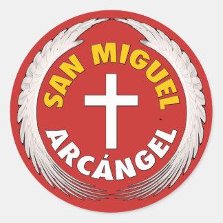 Pegatina Redonda San Miguel Arcangel