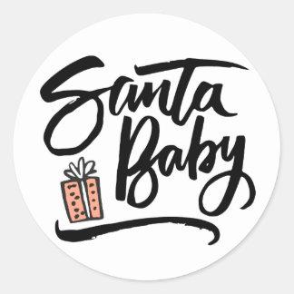 Pegatina Redonda Santa Baby