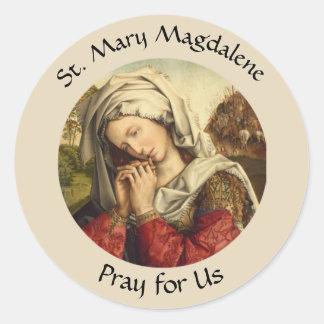 Pegatina Redonda Santa María Magdalena banquete día 22 de julio