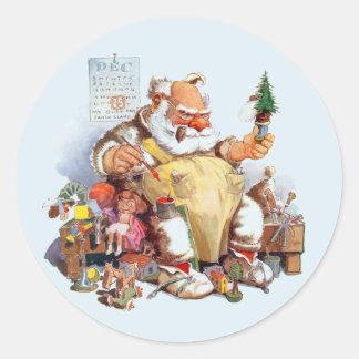 Pegatina Redonda Santa que hace a los pegatinas de los juguetes